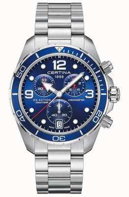 Certina Ds action chrono | Chronometer | Edelstahlarmband C0324341104700