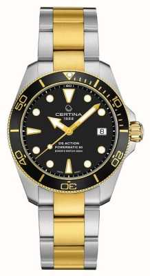 Certina Ds Aktionstaucher | 38mm | powermatic 80 | zweifarbig C0328072205100
