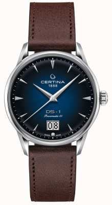 Certina Ds-1 großes Datum | powermatic 80 | braunes Lederband C0294261604100