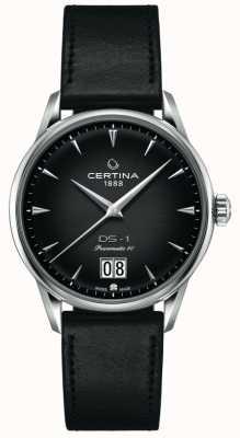 Certina Ds-1 großes Datum | powermatic 80 | schwarzes Lederband C0294261605100