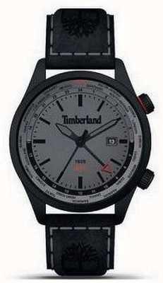 Timberland Männer | malden | gmt | schwarzes Lederband | graues Zifferblatt 15942JSB/13