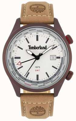Timberland Männer | malden | gmt | braunes Lederband | cremefarbenes Zifferblatt 15942JSBN/13