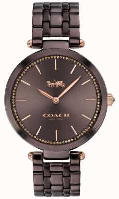 Coach | Frauenpark | schwarz / braunes Stahlarmband | braunes Zifferblatt 14503507