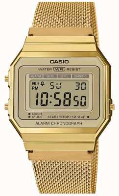 Casio | Sammlung | Stahlgitterarmband | digitales Zifferblatt A700WEMG-9AEF
