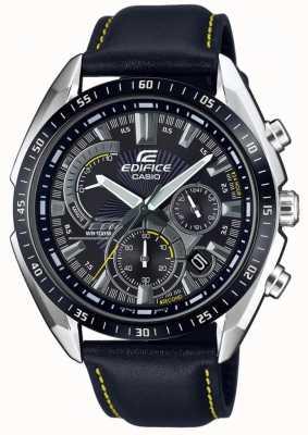 Casio | Gebäude | Chronograph | schwarzes Lederband | schwarzes Zifferblatt EFR-570BL-1AVUEF