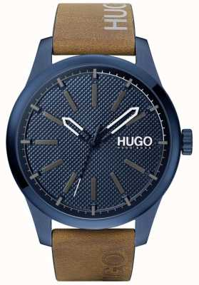 HUGO #invent | blaues Zifferblatt | braunes Lederband 1530145
