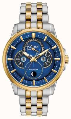 Citizen | Männer | Öko-Antrieb | Mondphase | blaues Zifferblatt BU0054-52L