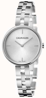 Calvin Klein Eleganz | Edelstahlarmband | silbernes Zifferblatt KBF23146