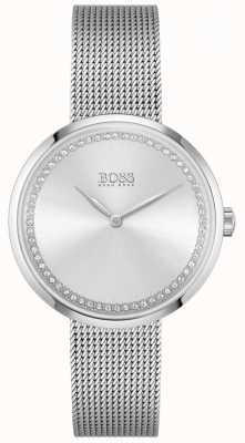 BOSS Lob | Stahlarmband für Damen | silbernes Kristallzifferblatt 1502546