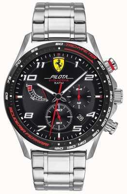 Scuderia Ferrari | Männerpilota evo | Edelstahlarmband | schwarzes Zifferblatt 0830720