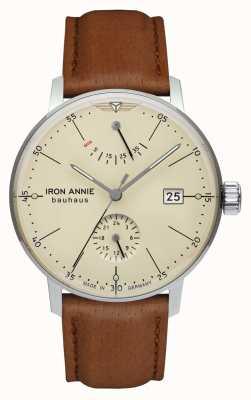 Iron Annie Bauhaus | automatisch | hellbraunes Lederband | beige Zifferblatt 5060-5