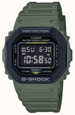 Casio G-Schock | grünes Kautschukband | Digitaler Bildschirm DW-5610SU-3ER