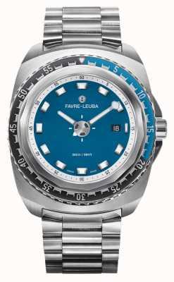 Favre Leuba Raider tiefblau 44   Edelstahlarmband   blaues Zifferblatt   00.10102.08.52.20
