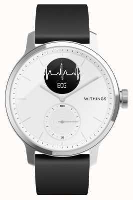 Withings Scanwatch 42mm weiß - Hybrid Smartwatch mit EKG HWA09-MODEL 3-ALL-INT