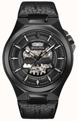 Bulova Herren | maquina | automatisch | schwarzes Lederband 98A238