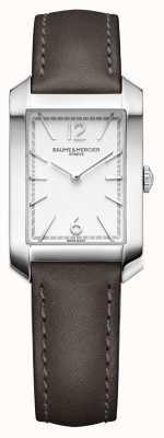 Baume & Mercier Lady Hampton | opal silbernes Zifferblatt | Liqourice Lederband M0A10471
