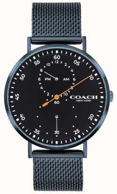 Coach Charles Blue Mesh Armbanduhr 14602478