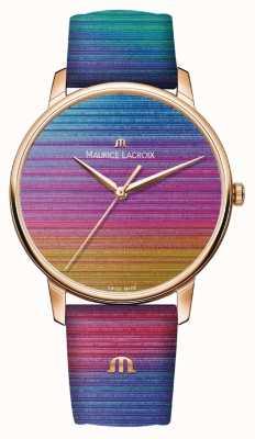 Maurice Lacroix Eliros Regenbogen Limited Edition | Regenbogen Lederband EL1118-PVP01-090-1