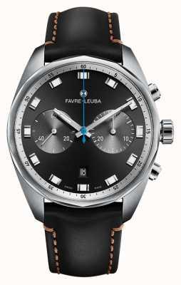 Favre Leuba Chief Sky Chief Chronograph   schwarzes Lederband 00.10202.08.11.41