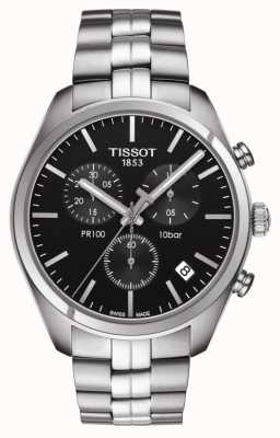 Tissot Pr 100 | Chronograph | schwarzes Zifferblatt T1014171105100