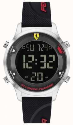 Scuderia Ferrari Männer Digitrack | schwarzes Kautschukband | schwarzes digitales Zifferblatt 0830756