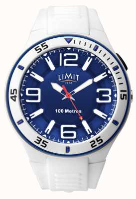 Limit Unisex | weißes Kautschukband | blaues Zifferblatt 5763.65