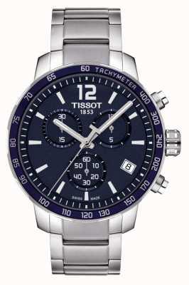 Tissot Quickster Chronograph mit blauem Zifferblatt T0954171104700