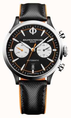 Baume & Mercier Kapland | Männer | automatisch | schwarzes Leder | schwarzes Zifferblatt M0A10451