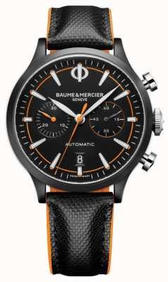 Baume & Mercier Kapland | Männer | automatisch | schwarzes Leder | schwarzes Zifferblatt M0A10452