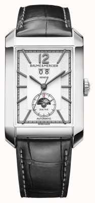 Baume & Mercier Hampton Rechteck | automatisch | schwarzes Leder | silbernes Zifferblatt M0A10523