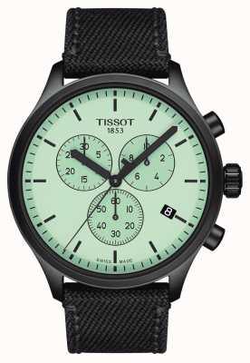 Tissot Herren   chrono xl   grünes Zifferblatt   schwarzes Gewebeband T1166173709100