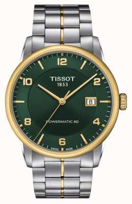 Tissot Luxus powermatic 80 | grünes Zifferblatt | Edelstahlarmband T0864072209700
