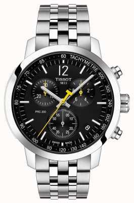 Tissot Prc 200   Chronograph   schwarzes Zifferblatt   rostfreier Stahl T1144171105700