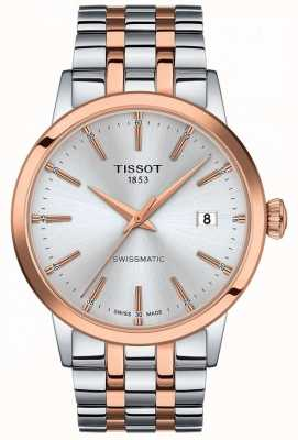 Tissot Swissmatic | silbernes Zifferblatt | zweifarbiges Edelstahlarmband T1294072203100