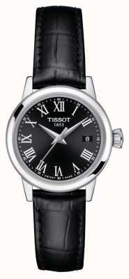 Tissot Frauen | klassischer Traum | schwarzes Zifferblatt | schwarzes Lederband T1292101605300