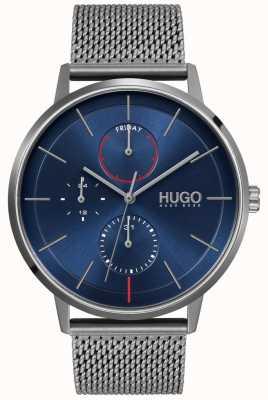 HUGO #existierendes Geschäft   blaues Zifferblatt   graues IP-Netzband 1530171