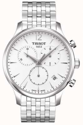 Tissot Tradition | Chronograph | weißes Zifferblatt | rostfreier Stahl T0636171103700