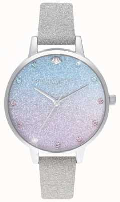Olivia Burton Glitter Ombre Demi Zifferblatt, Sparkle Marker Glitzer Armband OB16US49