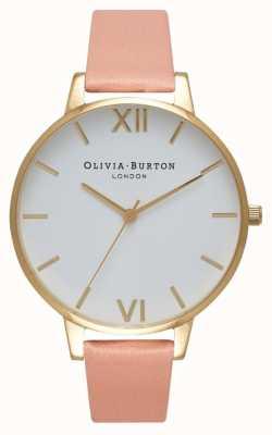 Olivia Burton Weißes Zifferblatt staubige rosa & goldene Uhr OB16BDW13