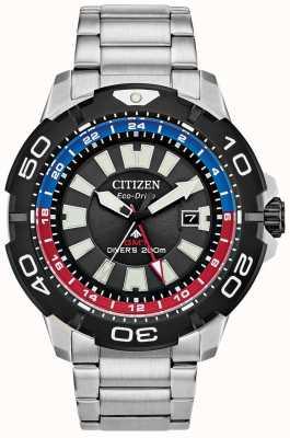 Citizen Promaster Taucher gmt | Edelstahlarmband | schwarzes Zifferblatt BJ7128-59E