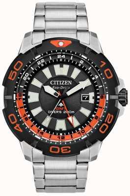 Citizen Promaster Taucher gmt | Edelstahlarmband | schwarzes Zifferblatt BJ7129-56E