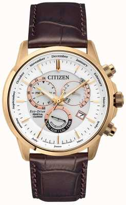 Citizen Kaliber 8700 ewige Kalenderuhr | braunes Lederband BL8153-11A