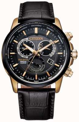 Citizen Kaliber 8700 ewige Kalenderuhr | dunkelbraunes Leder BL8156-12E