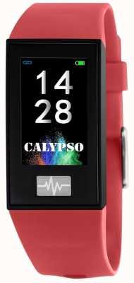 Calypso Unisex | smartime | rotes Silikonband + freies Armband K8500/4