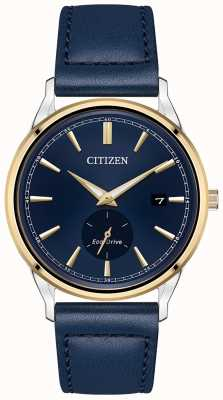 Citizen Eco-Drive blaue Leder blau Zifferblatt Uhr BV1114-18L