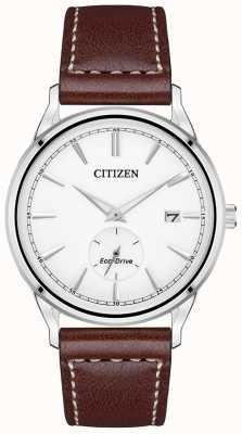 Citizen Eco-Drive braunes Lederband | weißes Zifferblatt BV1119-14A