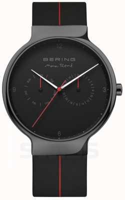 Bering Herren max rene | schwarzes Silikonband | schwarzes Zifferblatt 15542-423