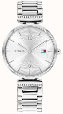 Tommy Hilfiger Frauenarie | Edelstahl Silber Armband | silbernes Zifferblatt 1782273