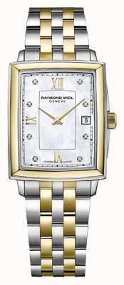 Raymond Weil Frauentokata | zweifarbiges Stahlarmband | diamantbesetztes Zifferblatt 5925-STP-00995