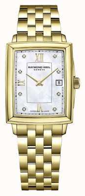 Raymond Weil Frauentokata | vergoldetes pvd-armband | diamantbesetztes zifferblatt 5925-P-00995
